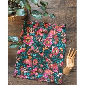 Embroidered Floral pencil skirt from Anthropologie